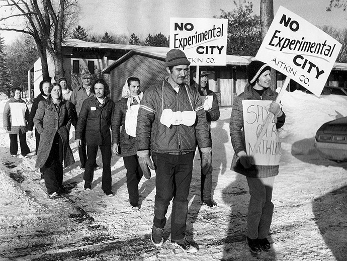 The Experimental City was supposed to alleviate urban sprawl and pollution, but environmentalists feared it would do the opposite. - COURTESY MINNESOTA HISTORICAL SOCIETY