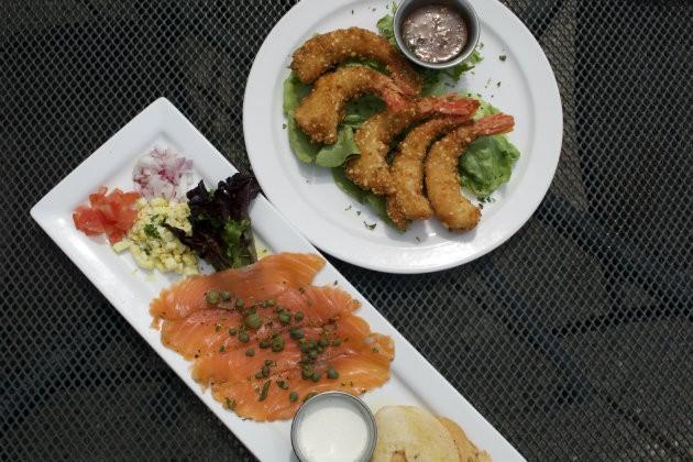 The shrimp are a house specialty. - CHERYL BAEHR