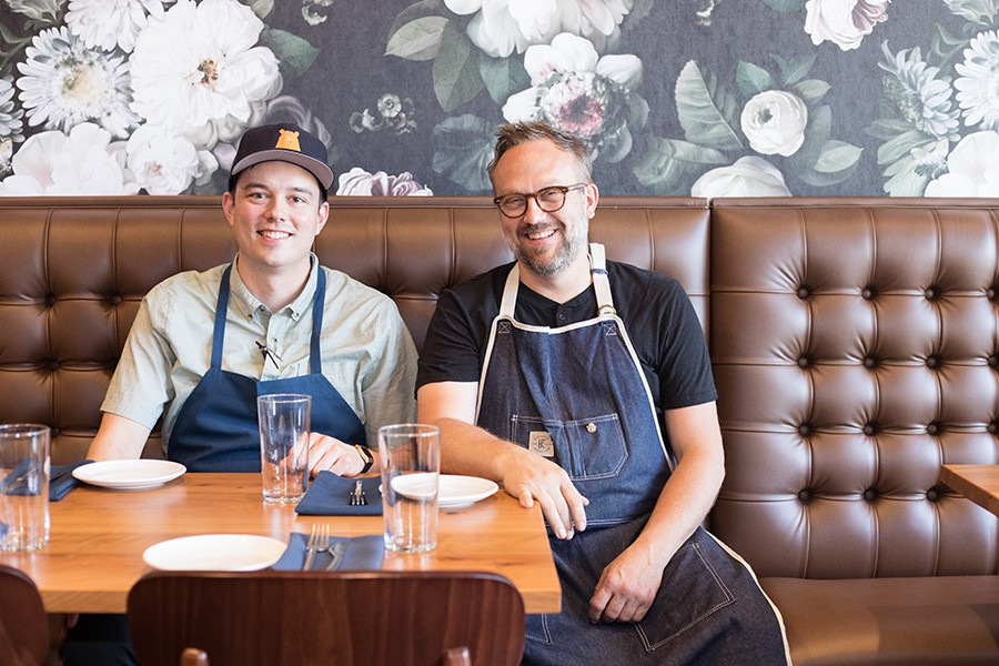 Head chef Sean Turner and owner Matt McGuire. - MABEL SUEN