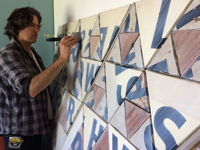 Benjamin Lowder at work. - COURTESY OF CHEROKEE STREET GALLERY