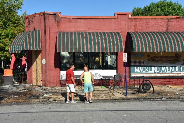 A fire torched the Macklind Avenue Deli on Thursday morning. - DOYLE MURPHY
