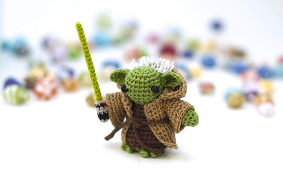 Let's face it: You need a tiny knit Yoda. - BITTIEST BAUBLES