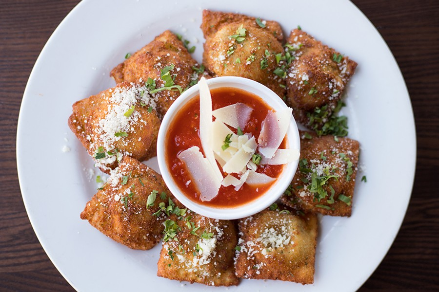 Del Pietro's housemade toasted ravioli comes in various iterations. - MABEL SUEN