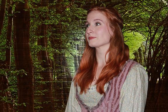 Dawn Schmid stars as Rosamund in The Robber Bridegroom. - JUSTIN BEEN