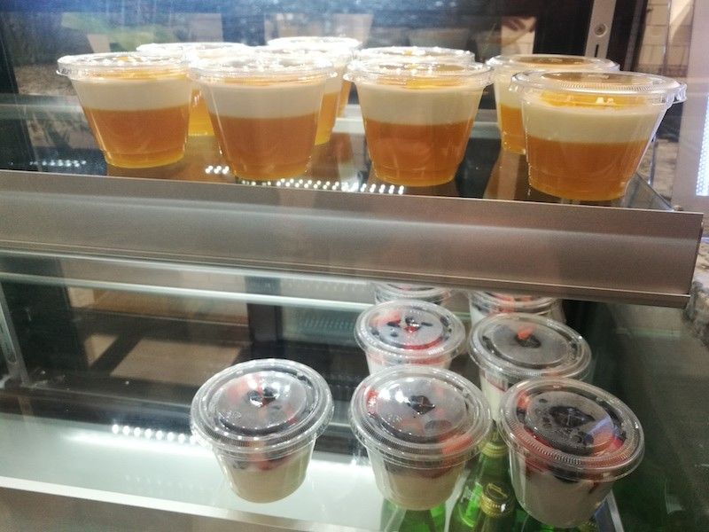 Among the to-go items on offer are mango pudding (top) and mixed berry milky pudding. - IAIN SHAW
