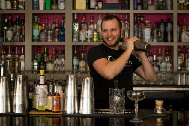 Dale Kyd engineers the perfect cocktails at the Gin Room. - MONICA MILEUR