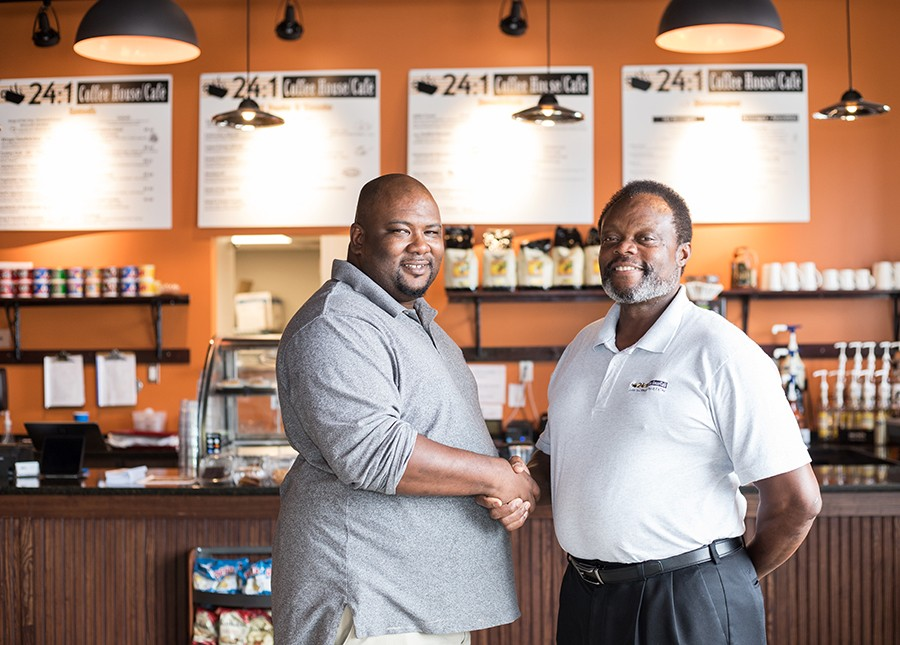 Co-managers Robert Cleveland and Jim Thomas previously worked together at Clayton's restaurant in O'Fallon. - MABEL SUEN