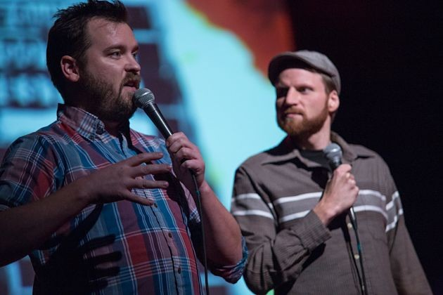 Joe Pickett (left) and Nick Prueher (right) have made VHS oddities their career. - ERIK LJUNG