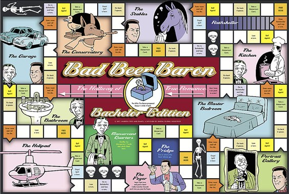 Follow the link below for your own free Bad Beer Baron board game.