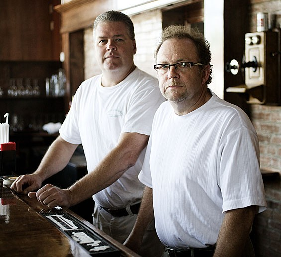 Quincy Street Bistro owners Mike Enright (left) and Kevin Winkler.