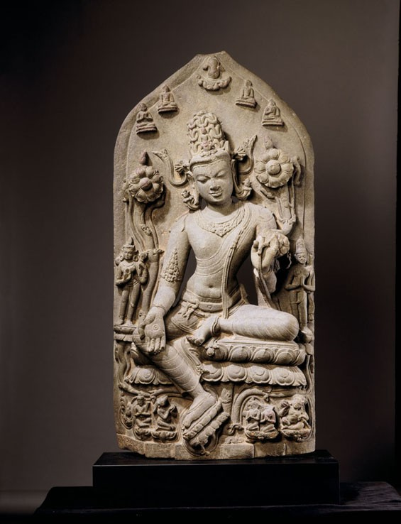 Bodhisattva Avalokitesvara in the Form of Khasarpana Lokesvara, late 11th or early 12th century, India, Bihar or Bengal.
