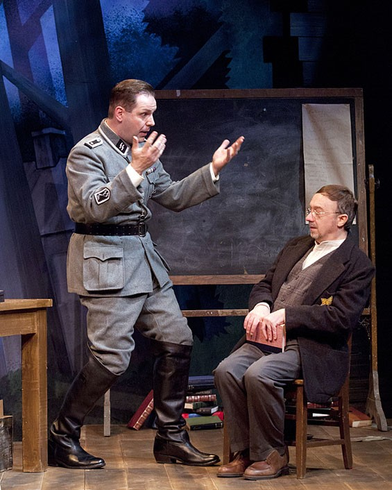 Jason Cannon and Terry Meddows in New Jewish Theater's Way to Heaven.