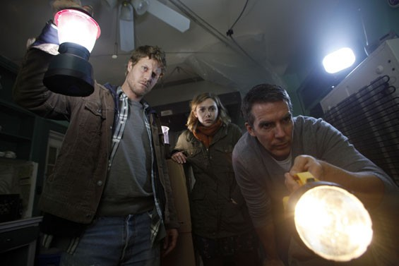 Chris Kentis, Elizabeth Olsen and Adam Trese