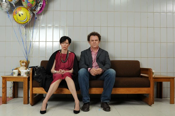 Tilda Swinton and John C. Reilly in We Need to Talk About Kevin.