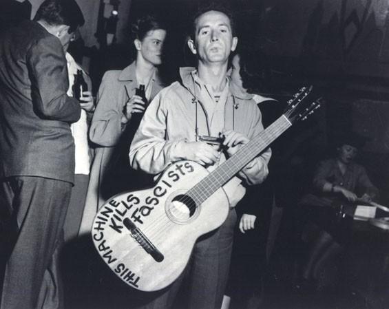 Woody Guthrie, ca. 1945.