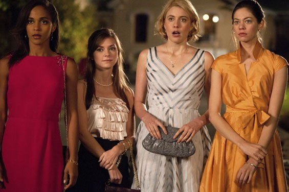 Megalyn Echikunwoke, Carrie MacLemore, Greta Gerwig and Analeigh Tipton in  Damsels in Distress.