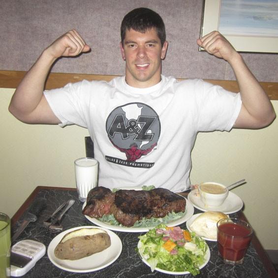 Appetite for consumption: Randy Santel has won 100 eating challenges.