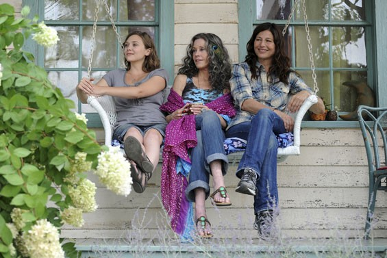A change of pace in Peace: Elizabeth Olsen, Jane Fonda and Catherine Keener.