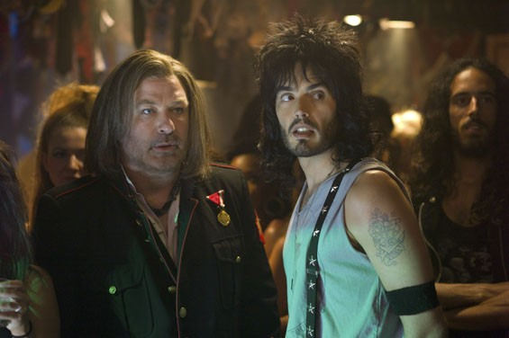 Alec Baldwin and Russel Brand in Rock of Ages.