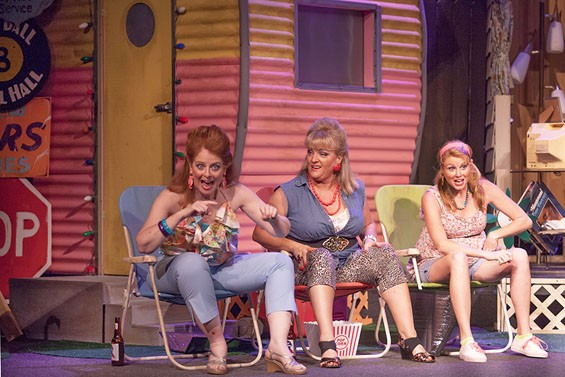 Kay Love, Kim Furlow and Jessica Tilghman in The Great American Trailer Park Musical.