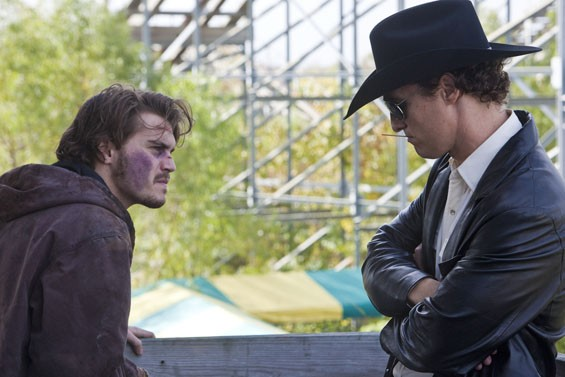 Emile Hirsch and Matthew McConaughey in Killer Joe.