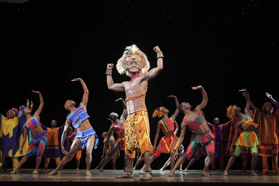 Feeling the love: Jelani Remy stars as Simba in the national touring production of The Lion King, at the Fox Theatre through August 31.