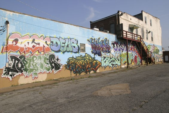 "About twenty graffiti artists from the ""LD crew"" painted this mural at 3124 Cherokee Street on June 30. How much longer will it stay up?"