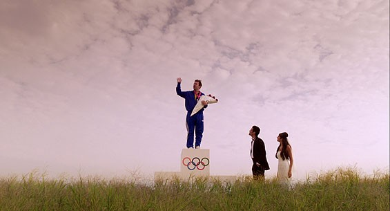 Atop a bookshelf or a podium for Olympic dustbusting? In dreams, it's hard to say.