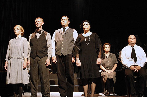 The Cast of The Adding Machine.