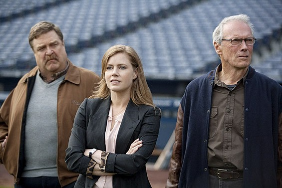 John Goodman, Amy Adams and Clint Eastwood in Trouble With the Curve.