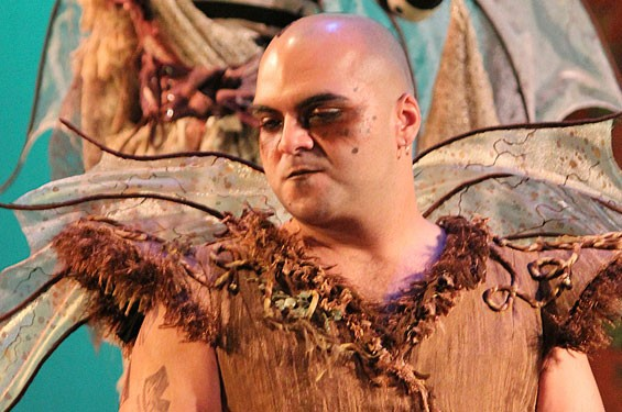 Michael Juncal in St Louis Shakespeare's A Midsummer Night's Dream.