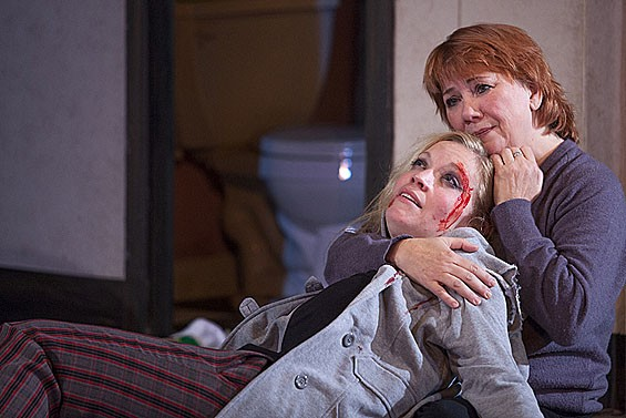 Rachel Hanks and Jane Abling in West End Players Guild's This Wide Night.
