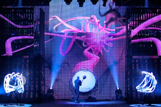 Blue Man Group: A vibrant, colorful show.