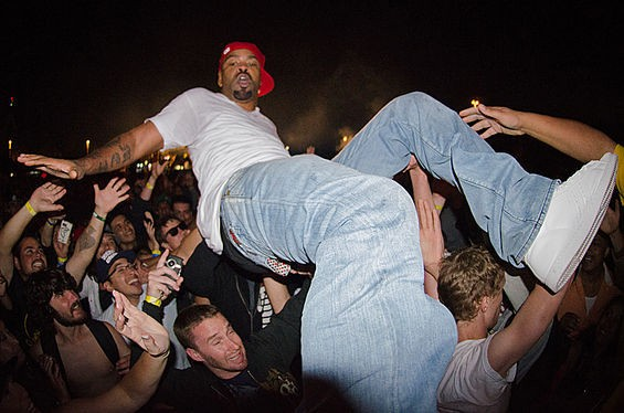 Method Man crowd-surfs at Rock the Bells in San Francisco in August. See more Method Man photos.