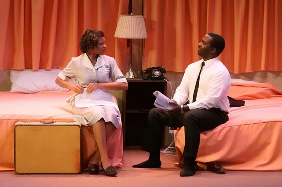 A summit: Alicia Reve as Camae and Ronald L. Conner as Dr. Martin Luther King Jr.