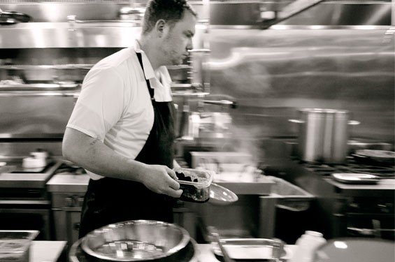 Chef Patrick Connolly in the kitchen at Basso. Slideshow: Inside Basso at the Cheshire Inn