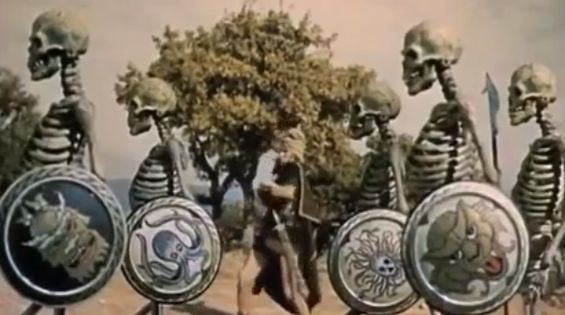 Harryhausen's famous stop-motion skeletons from Jason and the Argonauts.