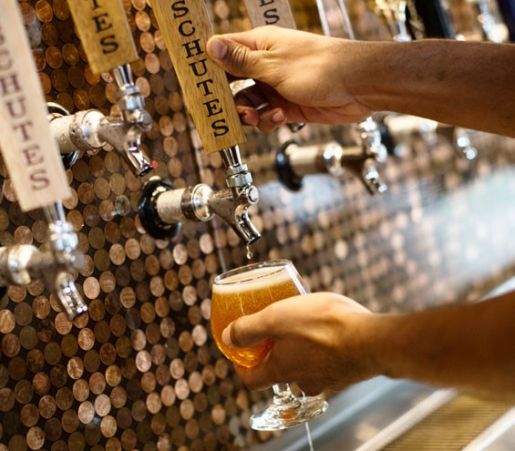 Just a few of its 80 on-tap beers. Slideshow: Photos from Inside Flying Saucer
