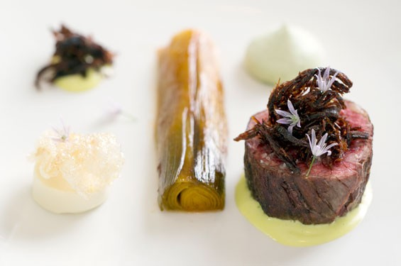 Rib eye, alongside allium, hollandaise and Meyer lemon. Slideshow: Inside Niche in Clayton.