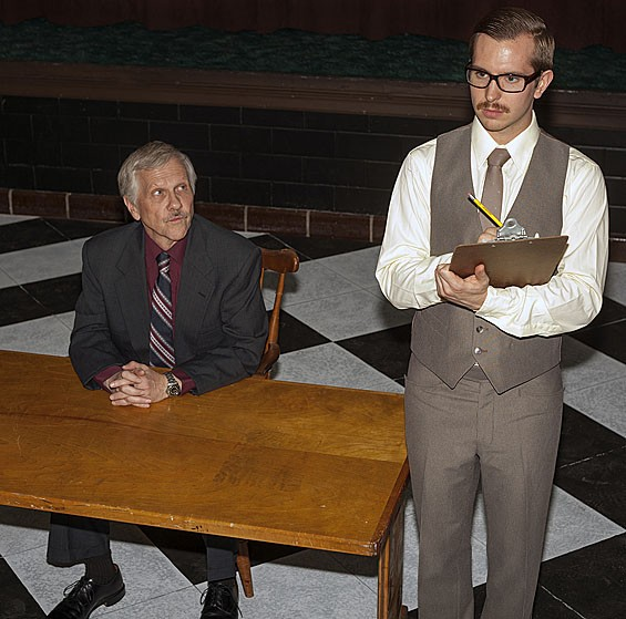 Robert Ashton and Zach Wachter as Roote and Gibbs in The Hothouse.