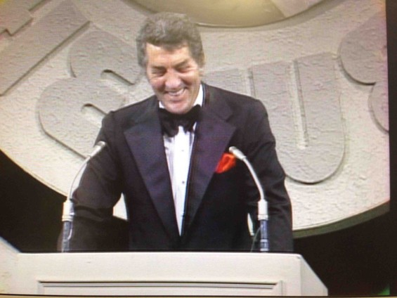 Martin at the podium during the 1974 roast of Don Rickles.