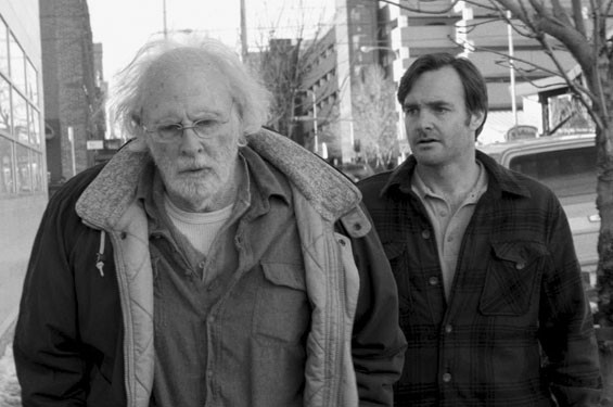 Bruce Dern and Will Forte in Nebraska.