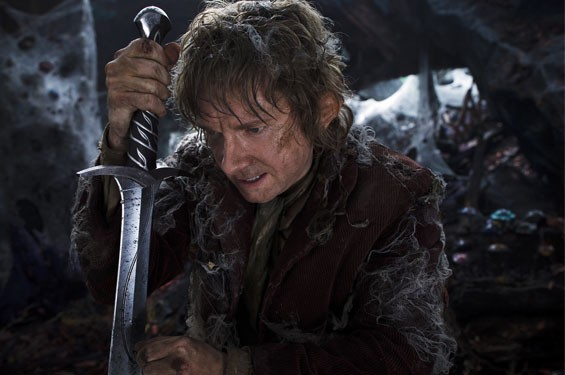 Martin Freeman as Bilbo in The Hobbit: The Desolation of Smaug.