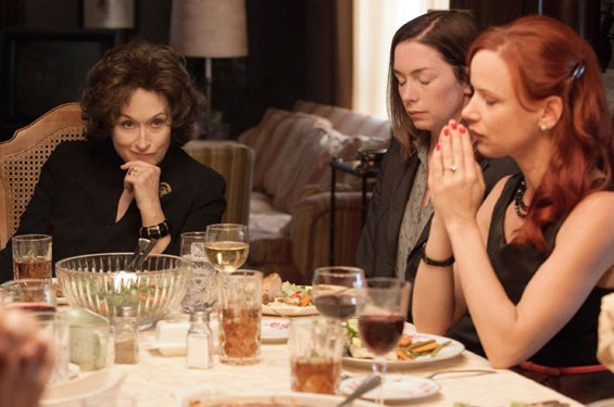 Meryl Streep, Julianne Nicholson and Juliette Lewis in August: Osage County.