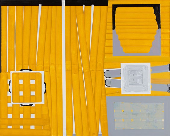 Gary Stephan, Big X, 2013, acrylic on canvas, 56 by 70 inches, at the Philip Slein Gallery.