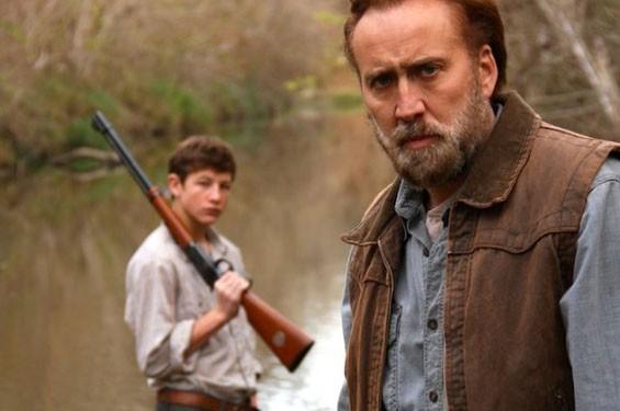Tye Sheridan and Nicolas Cage in Joe.