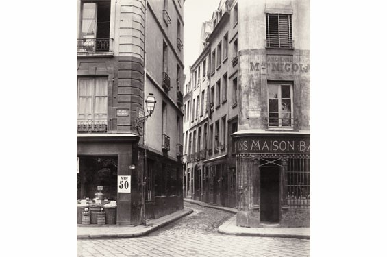 Charles Marville, French, 1813–1879; Rue Des Lavandières, c.1868; albumen print from collodion glass negative; 11 3/4 x 10 3/4 inches. The Nelson-Atkins Museum of Art, Kansas City, Missouri. Gift of the Hall Family Foundation, 2007.2.9.