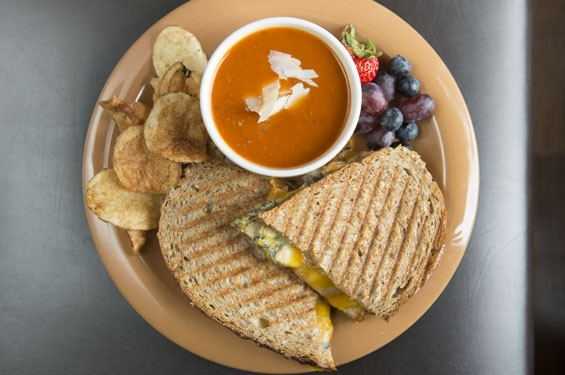 """The Best Grilled Cheese Ever."" See photos: Corvid's Cafe Serves Quintessential Cafe Fare on the South Side"