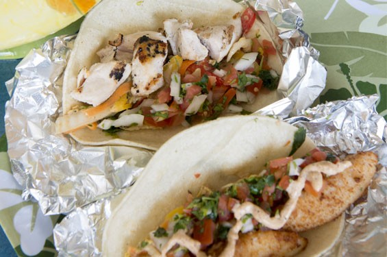 Grilled Chicken and White Fish Tacos. See photos: Taha'a Twisted Tiki Serves Cocktails from Paradise in the Grove