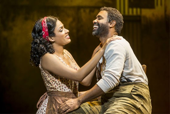 Alicia Hall Moran as Bess and Nathaniel Stampley as Porgy.